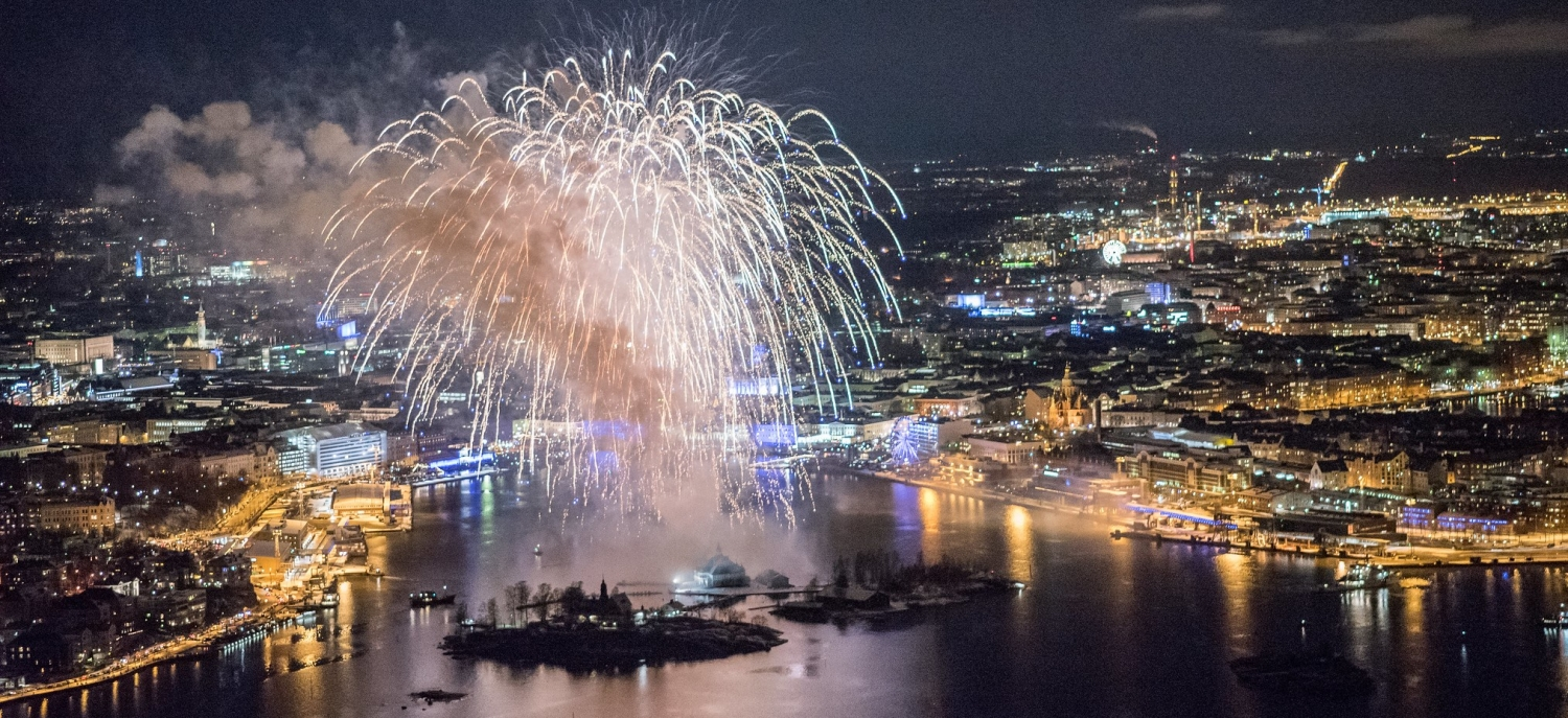 Finland 100 Fireworks in Helsinki 6th Dec 2017 © Prime Minister's Office